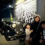 In front of the Hitler's limousine.