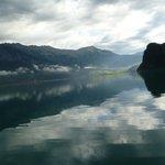 Reflections on lake Brienz