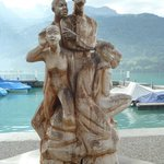Famous woodcarving sculpture in Brienz