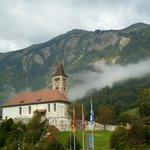 The church in town of Brienz