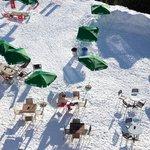 terrasse après ski et déjeuner extérieur