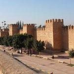 Adobe city walls