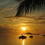 coucher de soleil plage