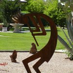 Kokopelli sculptures could be found all over the grounds