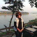 Vista do Restaurante do Teak Gaeden Hotel em Chiang Khong