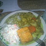 Great portions! This is Curried Chicken.