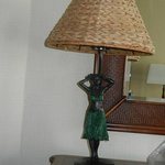 Hula Lamp in our room at Outrigger Waikiki on the Beach