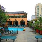Rooftop HEATED pool!  So beautiful