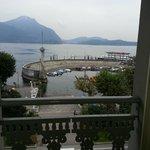 vista dal balcone della camera