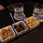 Complimentary snacks at Le Bar. Delicious.