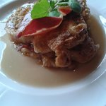 Amazing breakfast - Cinnamon french toast, maple syrup & bacon