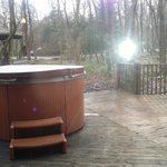 The Dales Suite - View of the Hot Tub