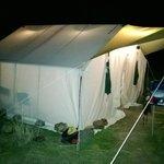 dinner & card tent