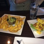 Guacamole with Plaintain chips and Fried Yuca