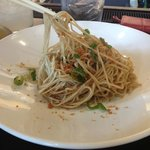 Delicious Garlic Noodles, a half order. Yum!