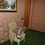 chair and door to bathroom