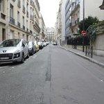 vue de la rue de l'hotel
