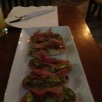 The spicy avocado appetizer at Sobremesa
