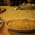 farro con la zucca e il parmigiano gratinato al forno