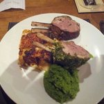 Rack of lamb cooked in our cabin by our private chef.