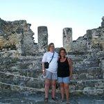 Scorpion Temple Mayan Ruin on site