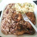 Jerk chicken... So. Damn. Good. $6. I mean how can u beat that?