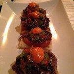 Pepito de Filete - Grilled hanger steak, roasted tomato, Chimichurri sauce , toast