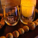 Each guest that checks in receives two complimenatry stemless wine glasses!