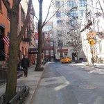 Curved street in Manhattan