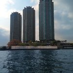 Hotel/condos as seen from Chao Phraya river during free river ferry ride.