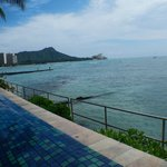 View from the outdoor infinity pool