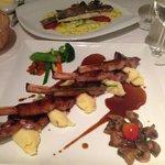 Lamb and Mahi Mahi dinners