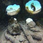 Foto embaixo da água
