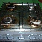 Suciedad en la cocina del quincho