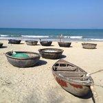 Cua Dai Beach, fishing vessels