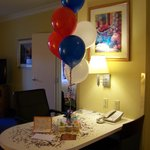 Birthday Balloons from staff to our son