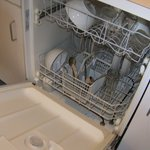 fully loaded dishwasher in suite