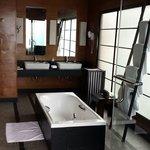 Resort room with door opening to the Ocean