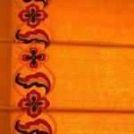 motif on the drapes