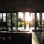 Sunrise from living room.