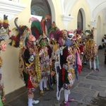 Colorful costumes at el Palacio