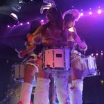 Bunny rabbit eared drummer girls