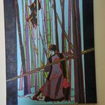 Expo de peintures en salle de petit-déjeuner Hotel De La Gare Nantes