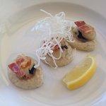 Truffle infused scallops