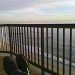 Putting my feet up; The view from the Surf and Sand Balcony,