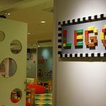 Lego play room, where kids can play with them for free!