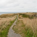 The cliff top walk, north end.