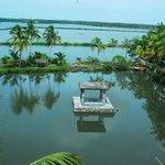 'Kalmandapam' & the backwaters from Rooftop Garden..