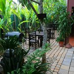 Beautiful secluded surrounds to enjoy our meal