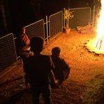 Evening bon fire
